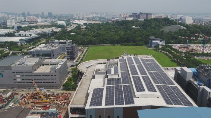 Rooftop solar system for Bollore Logistics Green Hub in Singapore